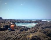 Skipper contemplates the Pacific...