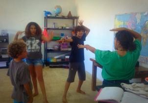 Drama work with gesture
