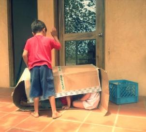 Arik plays house